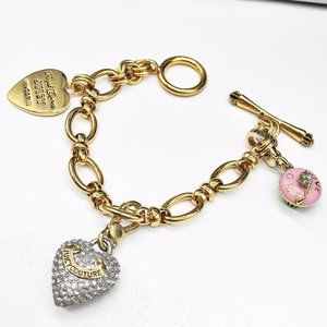 Juicy Couture Pave Clear Crystal Heart Bracelet